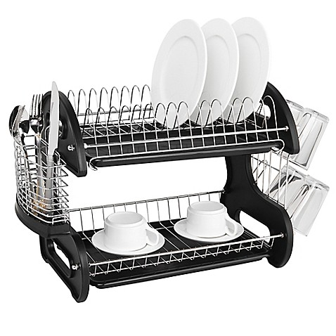 Home Basics 174 2 Tier Dish Drainer Bed Bath Amp Beyond