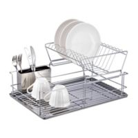 Home Basics® 2-Tier Dish Drainer