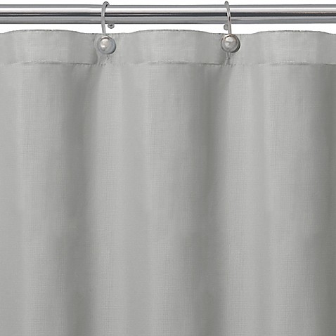 Buy Matthew Textured Microfiber Shower Curtain Liner In Grey From Bed Bath A