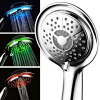 Aqua Spa® Luxury LED Color-Changing Air Turbo Handheld Showerhead in Chrome