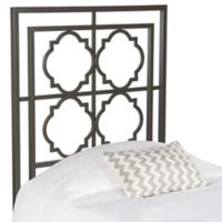 Safavieh Silva Twin Metal Headboard in Gunmetal