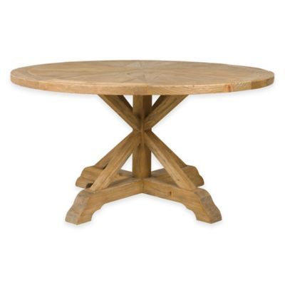 pelham 59 inch round dining table - Round Pine Kitchen Table