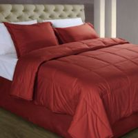 Cotton Dream Colors All Natural Cotton Filled Full/Queen Comforter in Scarlet