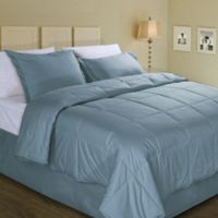 Cotton Dream Colors All Natural Cotton Filled Full/Queen Comforter in New Blue