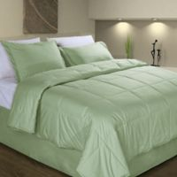 Cotton Dream Colors All Natural Cotton Filled Full/Queen Comforter in Sage
