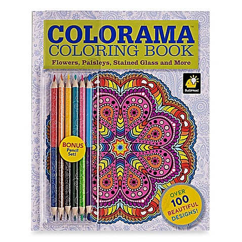 ColoramaTM Flowers Paisleys Stained Glass And More Coloring Book With Colored Pencils