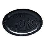 Noritake® Black on Black Dune Oval Platter