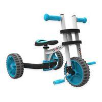 YBike Evolve 3-in-1 Trike in White/Blue