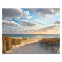 Sunset Beach 16-Inch x 20-Inch Gallery Canvas Wall Art