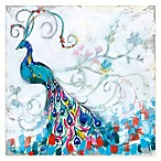 Courtside Market Colorful Peacock I Gallery Canvas Wall Art