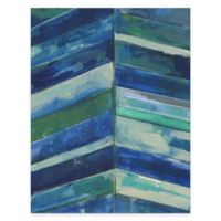 Contemporary Blue Stripes Gallery Canvas Wall Art