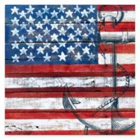American Flag Anchor Gallery Canvas Wall Art