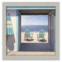 Beach Club Framed 30-Inch x 30-Inch Gallery Canvas Wall Art