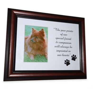 horizontal picture frame pet urn