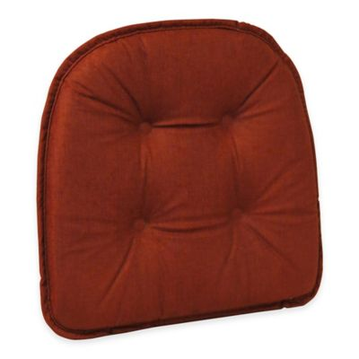 Klear Vu Tufted Cross Hatch GripperR Chair Pad In Red