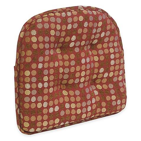 Buy Klear Vu Tufted Dotty Gripper 174 Chair Pad In Burgundy
