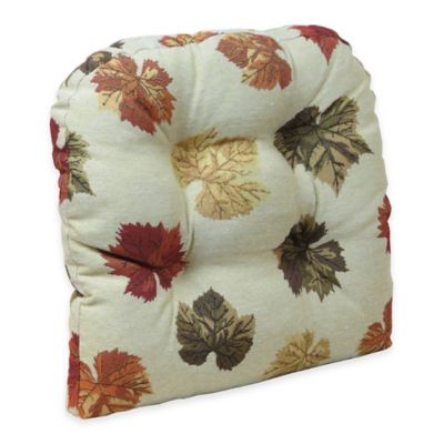 Klear Vu Universal Falling Leaves Gripper® Chair Pad In Multi