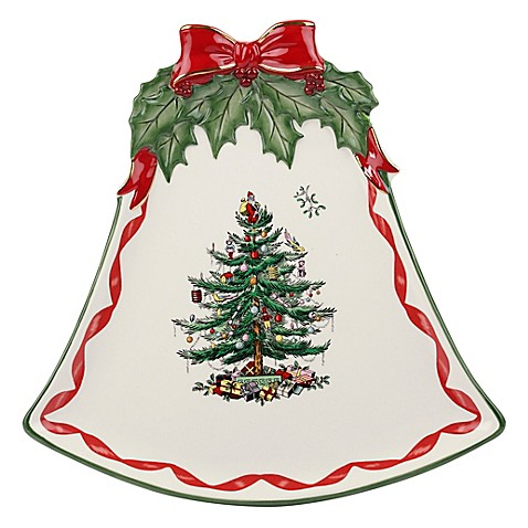 Spode Christmas Tree Gold Ribbons Bell Coupe Plate Bed Bath Beyond
