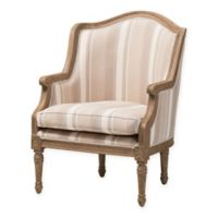 Baxton Studio Charlemagne French Accent Chair in Beige