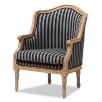 Baxton Studio Charlemagne French Accent Chair in Blue