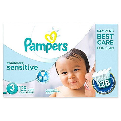 Pampers 174 Swaddlers Sensitive 128 Count Size 3 Economy