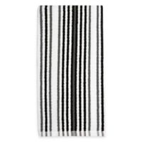 Kitchensmart® Cotton Stripe Kitchen Towel in Caviar Multi