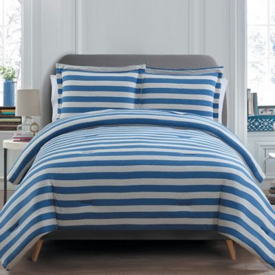 buy navy blue striped twin bed comforters from bed bath beyond. Black Bedroom Furniture Sets. Home Design Ideas