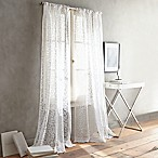 DKNY Halo 63-Inch Rod Pocket Sheer Window Curtain Panel in White