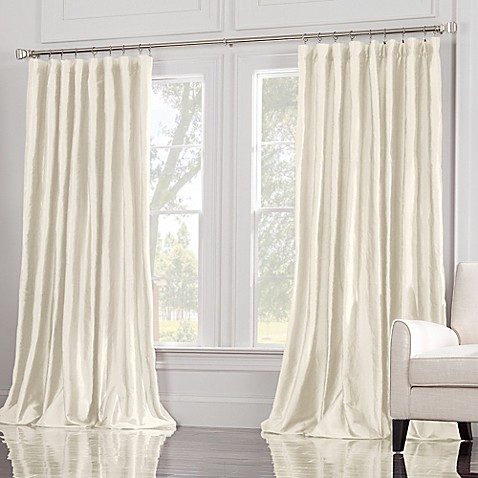 buy valeron estate 120 inch window curtain panel in ivory from bed bath beyond. Black Bedroom Furniture Sets. Home Design Ideas