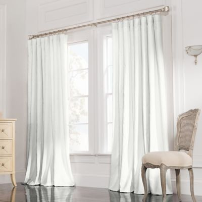 Valeron Estate 84 Inch Rod Pocket Insulated Double Wide Window Curtain  Panel In White
