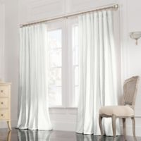 Valeron Estate 84-Inch Rod Pocket Insulated Double-Wide Window Curtain Panel in White