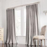 Valeron Estate Cotton Linen 120-Inch Double-Wide Window Curtain Panel in Steel Grey