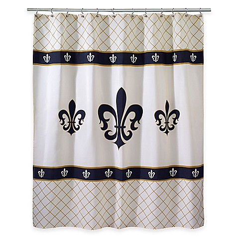 Avanti Luxemborg Fleur De Lis Shower Curtain Bed Bath