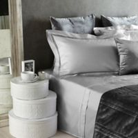 Frette At Home Tiber Lace Standard Pillow Sham in Grey