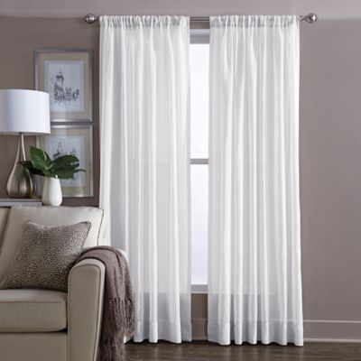 buy arm and hammer curtain fresh odor neutralizing 108 inch sheer curtain panel in white from. Black Bedroom Furniture Sets. Home Design Ideas
