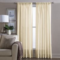 Wamsutta® Sheer 108-Inch Window Curtain Panel in Yellow