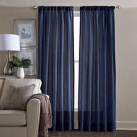 Wamsutta® Sheer 108-Inch Window Curtain Panel in Navy