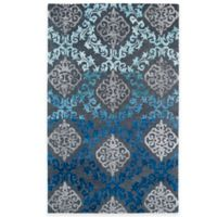 Kaleen Divine Medallion Damask 5-Foot x 7-Foot 9-Inch Area Rug in Ice