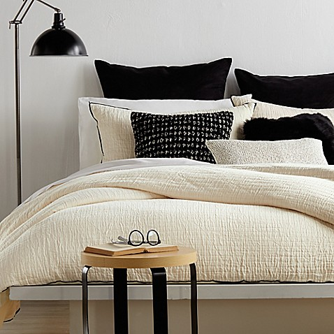Dkny Subway Duvet Cover In Ivory