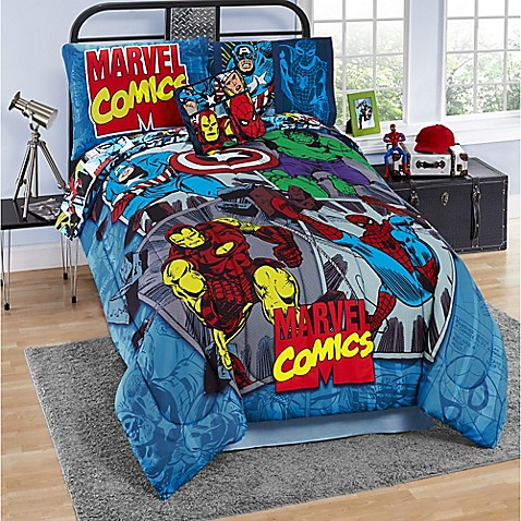 Marvel 174 Comics Reversible Comforter Set Bed Bath Amp Beyond