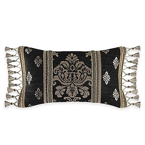 Queen Street Decorative Pillows : J. Queen New York Portofino Boudoir Throw Pillow in Black - Bed Bath & Beyond
