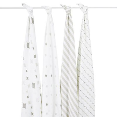 Aden + Anais® Grey Swaddle Blankets