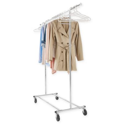 Product Image For Commercial Grade Portable U0026 Folding Adjustable Garment  Rack