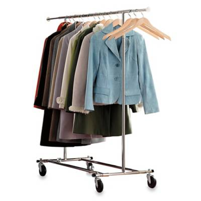 Product Image For Commercial Grade Portable Folding Adjustable Garment Rack 2 Out Of