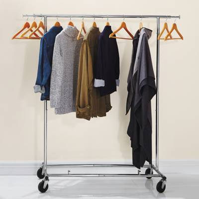 Product Image For Commercial Grade Portable Folding Adjustable Garment Rack 3 Out Of