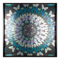 Metallic Butterfly Kaleidoscope Framed Wall Art