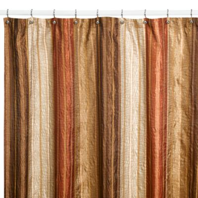 Delightful Manor Hill® Sierra Copper 72 Inch X 96 Inch Fabric Shower Curtain