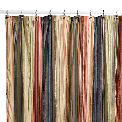 Shower Curtains cotton shower curtains : Retro Chic Fabric Shower Curtain, 100% Cotton - Bed Bath & Beyond