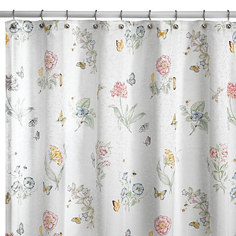 Curtains Ideas butterfly shower curtain : Lenox® Butterfly Meadow® 72-Inch x 72-Inch Fabric Shower Curtain ...