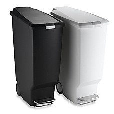 simplehuman slim plastic 40 liter step on trash can bed bath beyond. Black Bedroom Furniture Sets. Home Design Ideas